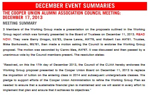 CUAA Resolution, 12/17/2013