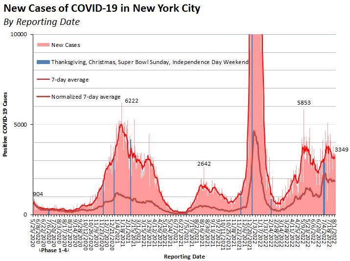 Daily NYC COVID-19 cases